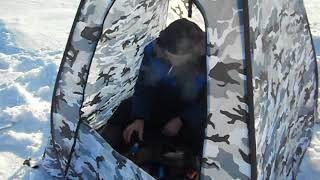 Обское море Новосибирск .Зимняя рыбалка в палатке , декабрь 2017 г !!!