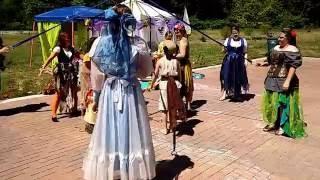 Maypole dance two