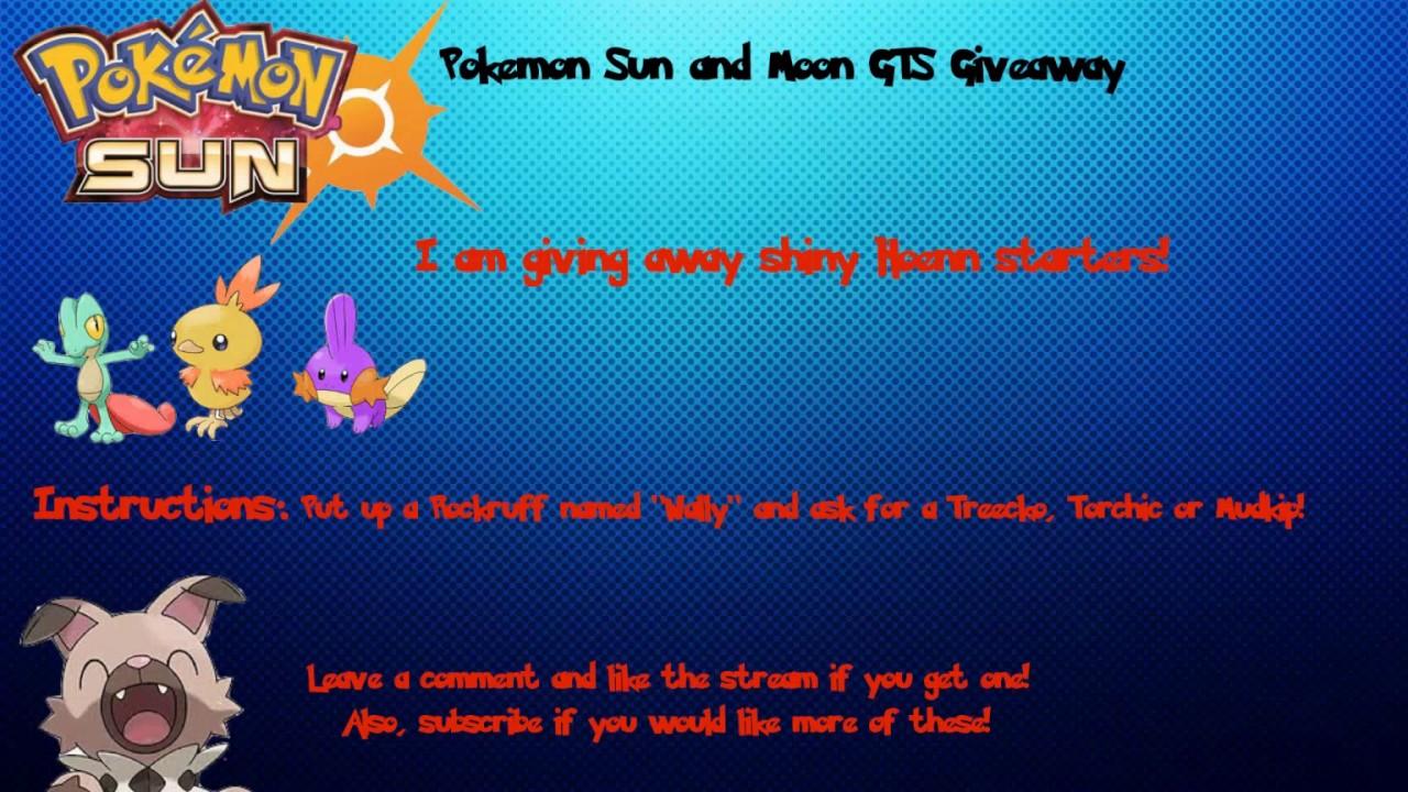 pokemon sun gts giveaway