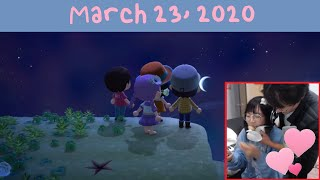 [03/23/2020] not social distancing in animal crossing | michael feeds me