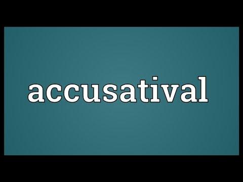 Header of accusatival