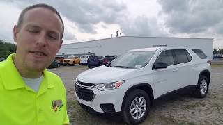 2019 Chevy TRAVERSE LS FWD Summit White - FULL REVIEW