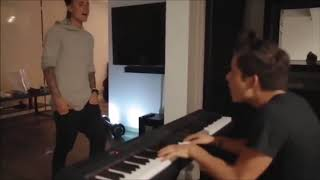 Justin Bieber singing an unreleased song with Rudy Mancuso