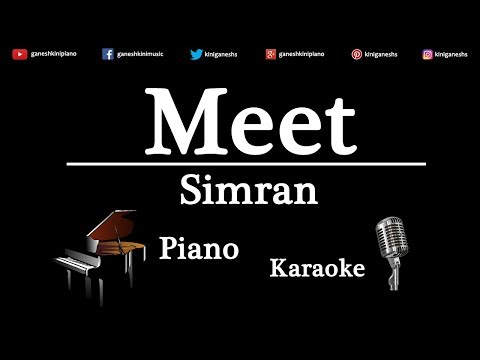 Meet Song  Simran | Piano Karaoke Instrumental Lyrics By Ganesh Kini