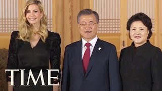 South Korea Rolls Out The Red Carpet For Ivanka Trump As She Arrives For Olympics Closing | TIME
