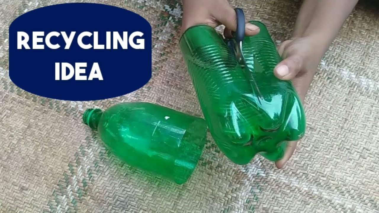 Best out of waste plastic bottle craft idea | Flower vase making idea with Plastic Bottle