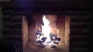 Fireplace with live fire, flute, saxophone / Камин с живым огнем, флейтой, саксофоном