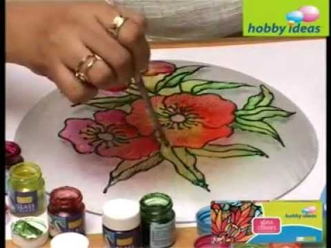 Decorate A Glass Plate