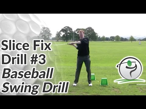 Cure Your Golf Slice Drill 3 – Baseball Swing Drill
