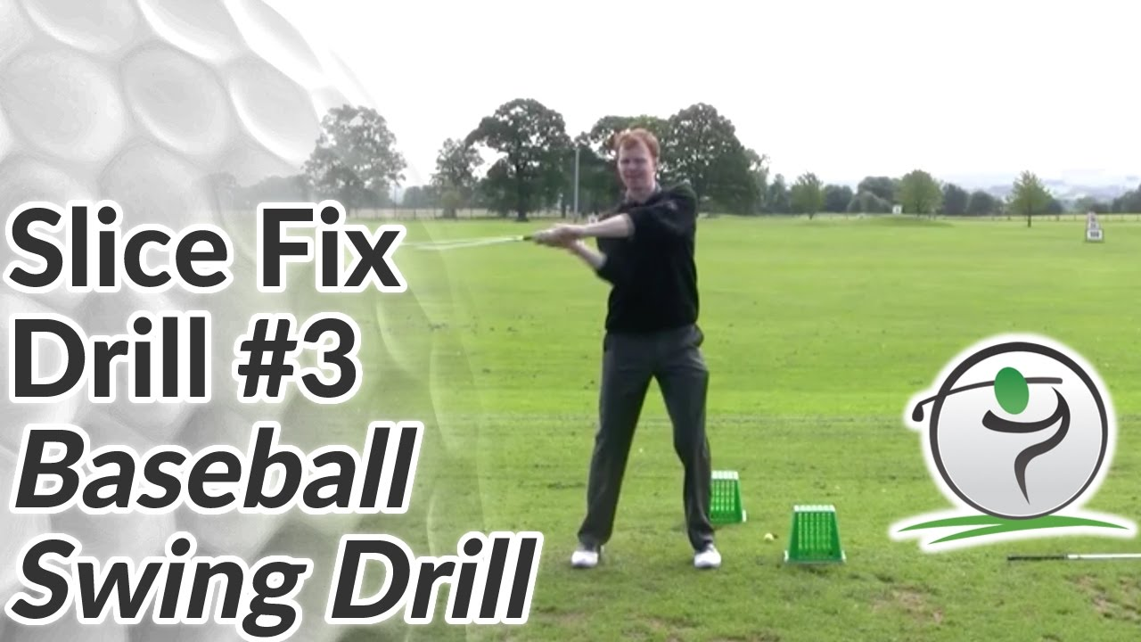 Golf Slice Fix Drill 3 Baseball Swing Drill