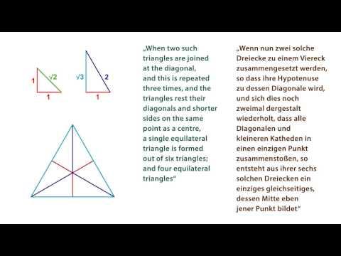 About Triangles in Plato