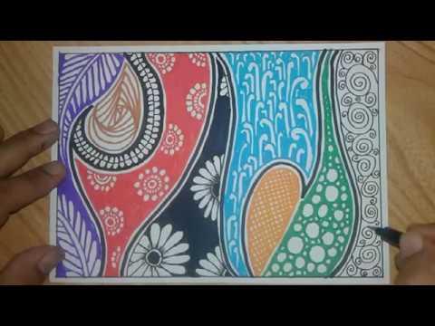 Latihan Menggambar Batik Untuk Anak Sekolah Youtube