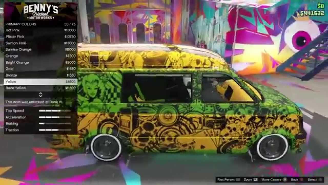 gta online lowrider dlc best rare moonbeam full car gta 5 online lowrider dlc best rare moonbeam full car customisation customization paint custom job