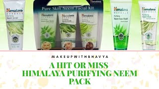 Himalaya Purifying Neem Pack Review|| HIT OR MISS || Beauty Product Review