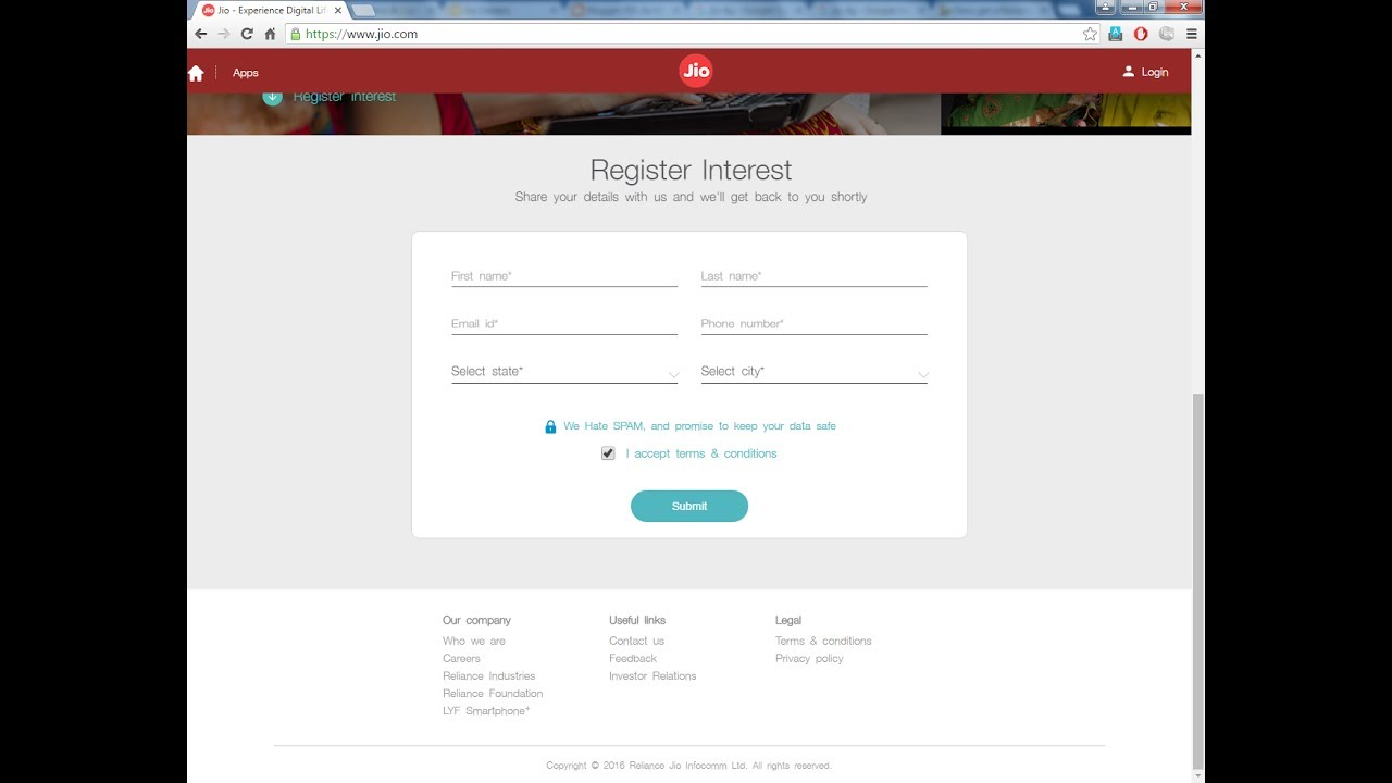 How To Register For Jio Phone Mobile Phones Rs 0 New Mobile Phone Price