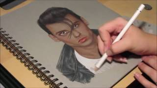 Johnny Depp -- Cry Baby Speed-Drawing