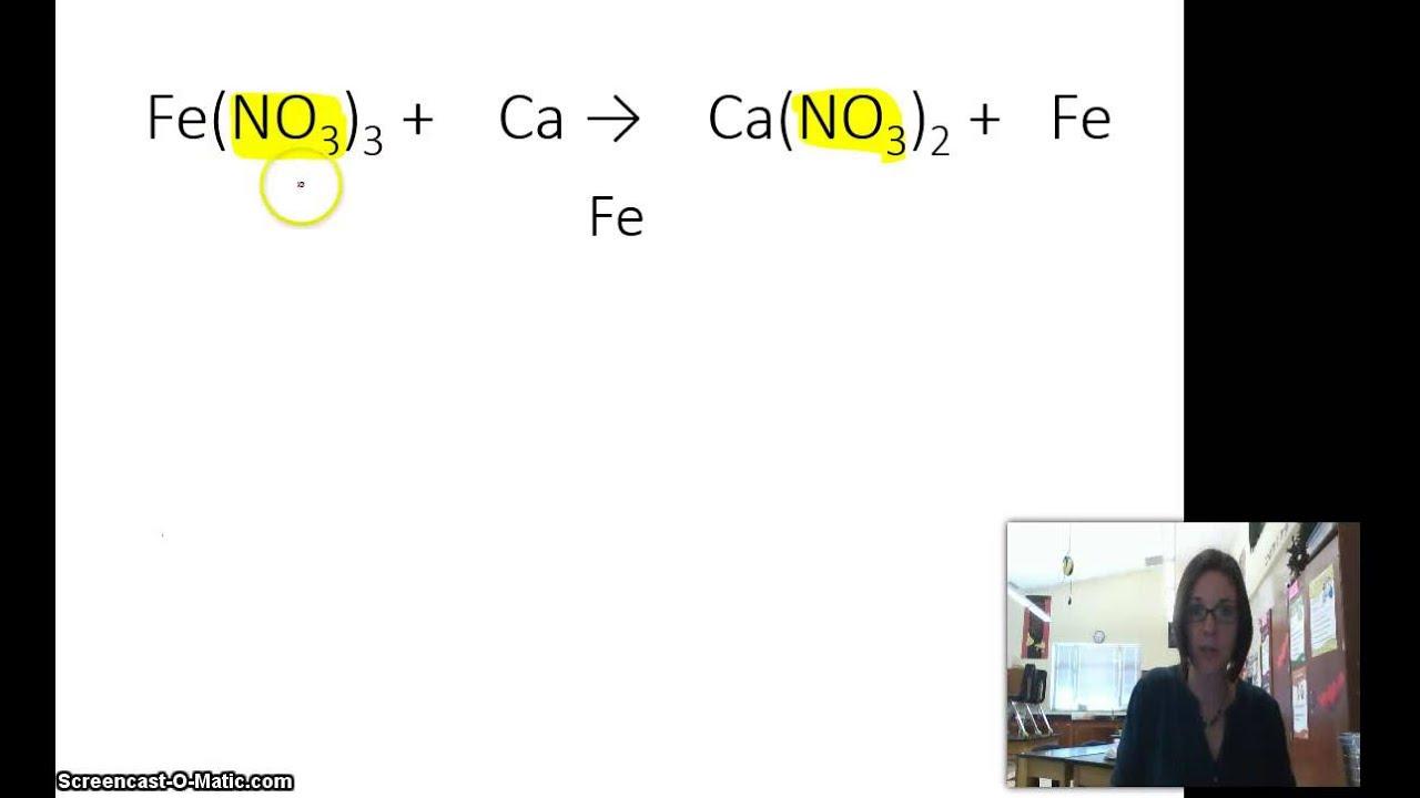 Balancing complex chemical equations