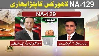 NA-129  Lahore   Pakistan Election Results    2002/2008/2013/2018  ( pti vs pmln )
