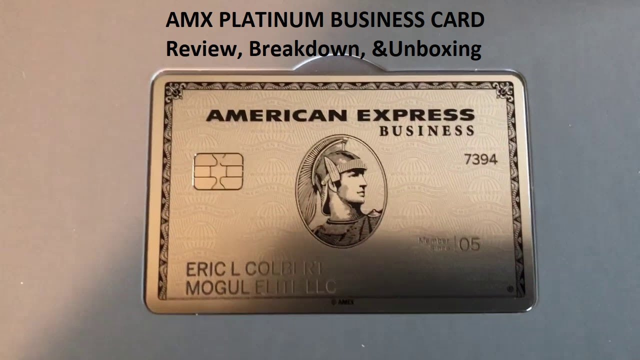 Business Platinum from American Express unbox & review - YouTube