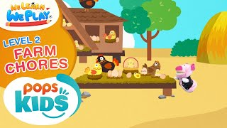 We Learn We Play Level 2 - Farm Chores - Học Tiếng Anh Cùng POPS Kids