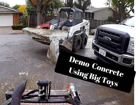 On to the next one (Pavers Demo and Dump trucks )