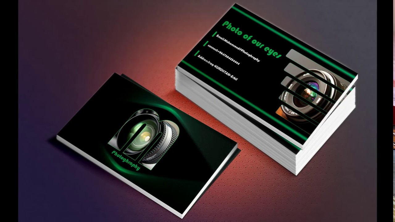 HOW TO MAKE PHOTOGRAPHY BUSINESS CARD IN PHOTOSHOP Full 🅷🅳 - YouTube