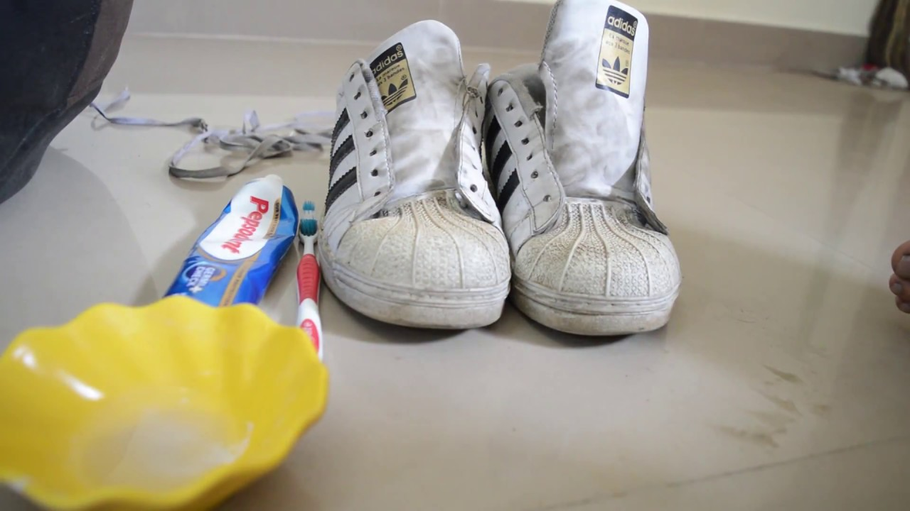 How To Clean White Shoes In 5 Minutes   DIY  YouTube
