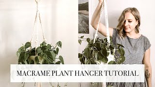 How To: Macrame Plant Hanger Tutorial (gathering knot + adding beads)