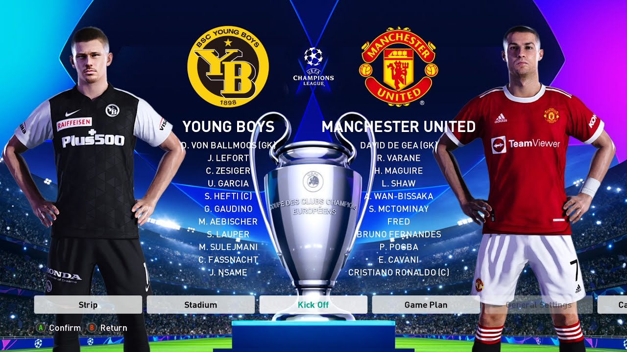 Download PES 2021 - Young Boys vs Manchester United - UEFA Champions League [UCL] 2021/2022 Ronaldo vs Y Boys
