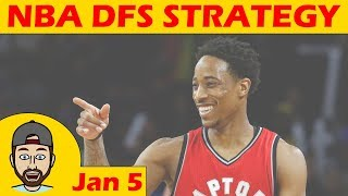 NBA DFS Projections & Strategy | Friday 1/5 | FanDuel & DraftKings thumbnail
