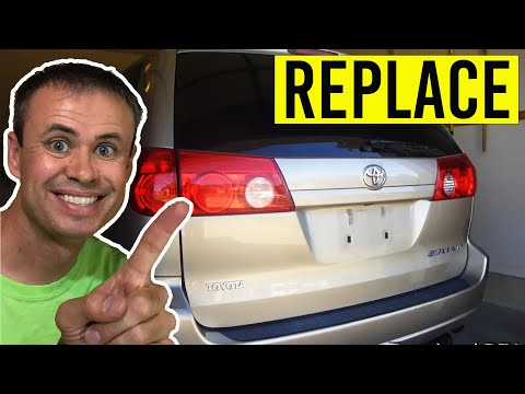 Toyota Sienna Tail Light and Reverse Light Replacement
