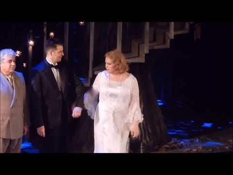 Curtain Call after Le Nozze di Figaro.Luca Pisaroni,Rachel Willis Sørensen,Christiane Karg12.23.17