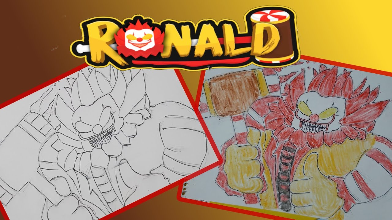 Ronald Roblox and Scary Jollibee Drawing and Coloring by ...