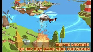Craft Helicopter Blocky City Sky Rescue Android Gameplay