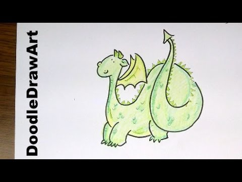 Drawing: How To Draw a Cute Cartoon Dragon - Step by Step ...