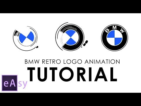 BMW retro logo animation | Easy After Effects tutorial