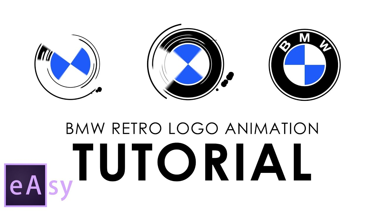 BMW retro logo animation | Easy After Effects tutorial - YouTube