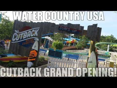 Cutback Water Coaster POV And Grand Opening | Water Country USA Williamsburg