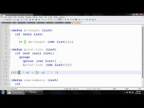 Common Lisp Tutorial -  (5) List functions