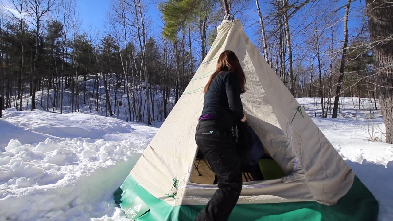 Homemade Hot Tent Tipi for Winter C&ing by C&er Christina & Homemade Hot Tent Tipi for Winter Camping by Camper Christina ...