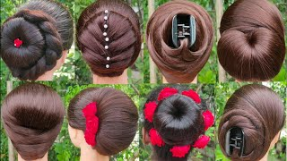8 Juda Hairstyle For Festivals || Party Hairstyle || Ladies Hairstyle With Using Hair Tools ||