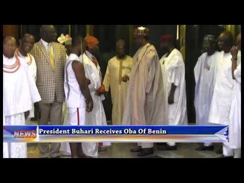 President Buhari Receives Oba Of Benin