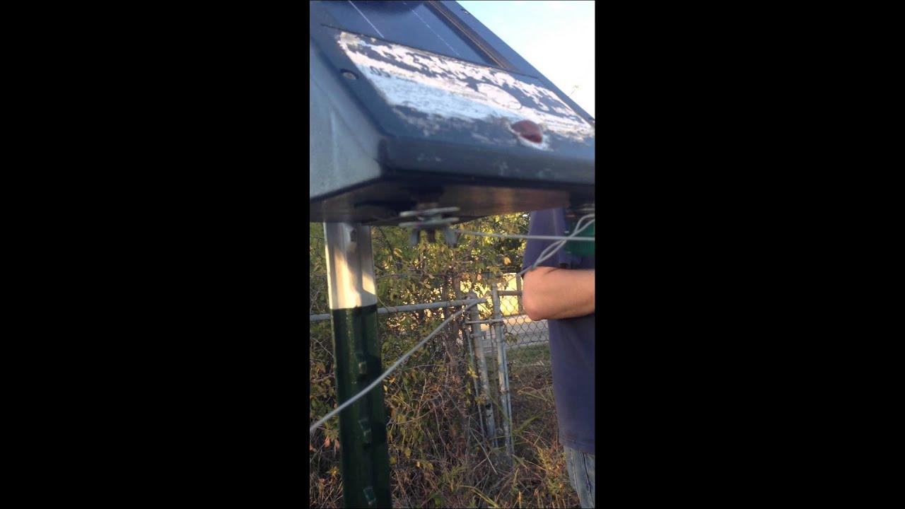 Zareba Solar Panel Electric Fence Problem Youtube