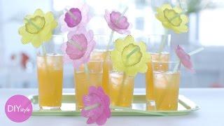 Drinking Straw Cocktail Accessories - Diy Style With Erin Furey - Martha Stewart