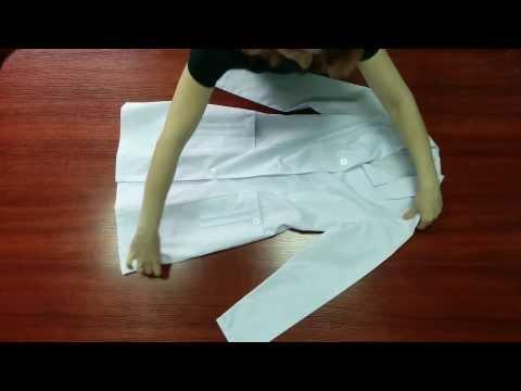 Как сложить халат медицинский чтобы он не помялся