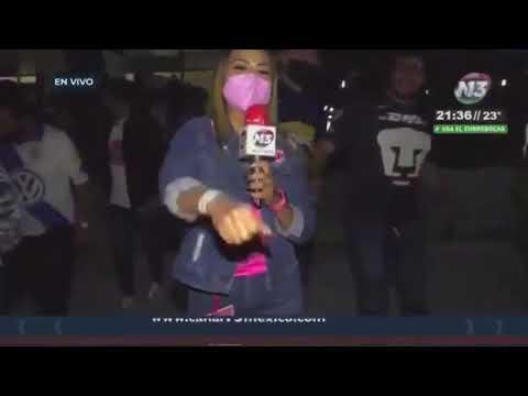 Reportera acoso aficionado de Pumas