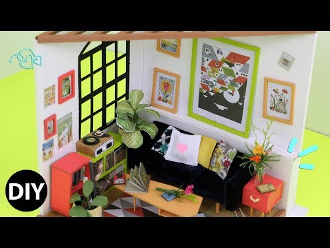 DIY Miniature Dollhouse Kit : Locus's Sitting Room Relaxing Crafts