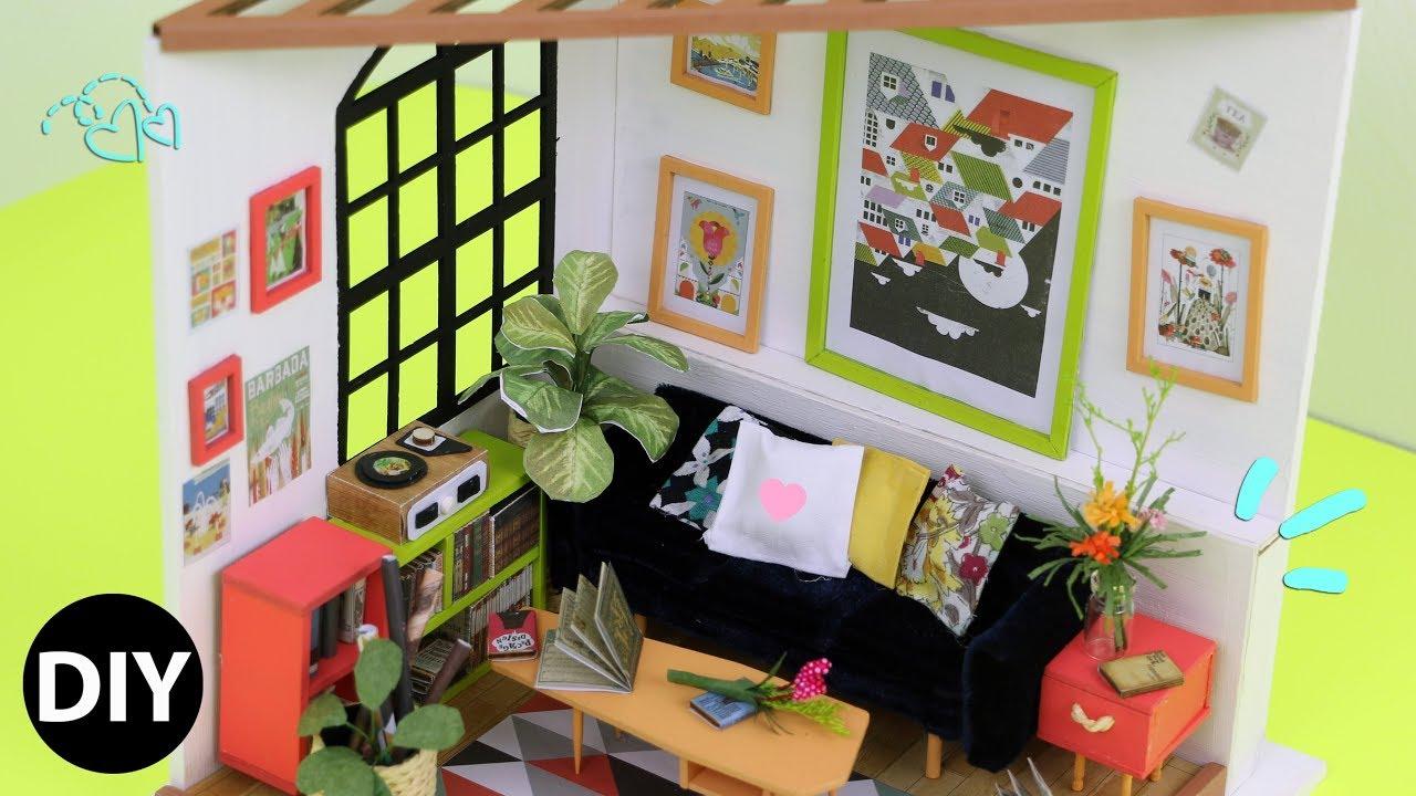 DIY Miniature Dollhouse Kit : Locusu0027s Sitting Room Relaxing Crafts
