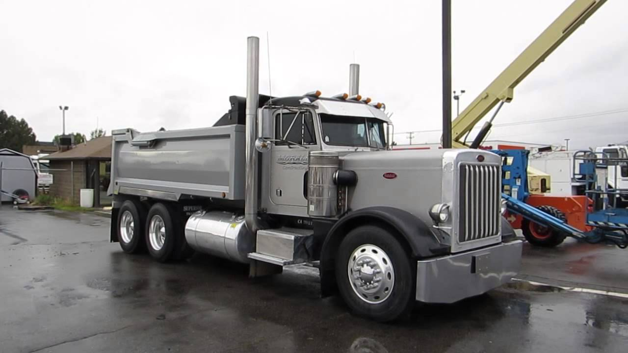 Sold Dump Truck Peterbilt 359 15 Yard Box Cummins 400 Hp