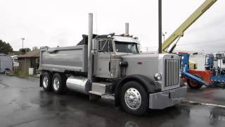 SOLD ~ Dump Truck Peterbilt 359 15 Yard Box Cummins 400 HP Diesel 13 Speed FOR SALE